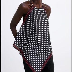 NWT Zara Printed Halter Top Polka Dot 0208/161 S